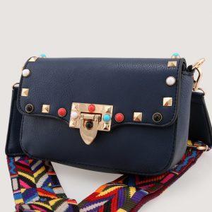 Bolso Tachas Azul