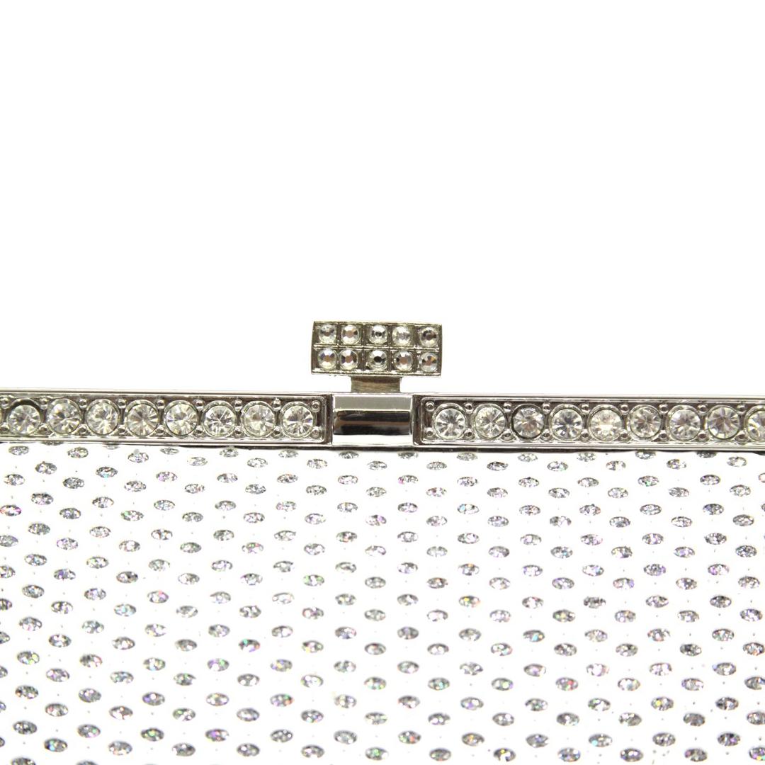 clutch blanco plata